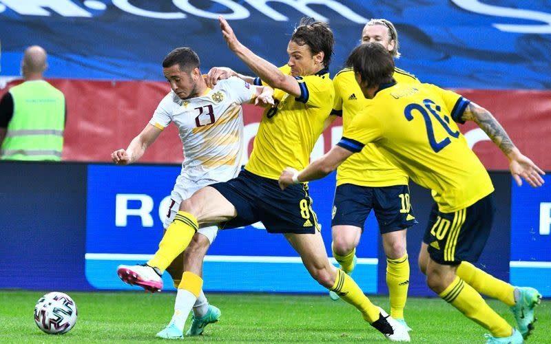 """""""สวีเดน""""ได้เฮก่อนลุยยูโรอุ่นแข้งอัดอาร์เมเนีย3-1 ทีมชาติ"""