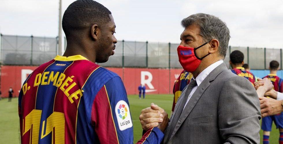 """""""เดมเบเล่"""" ไม่รีบถกสัญญาใหม่ บาร์ซ่า ขอโฟกัสยูโร ลาลีกา สเปน"""