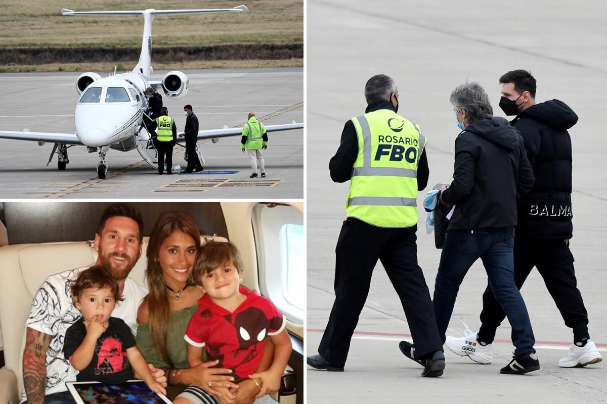 เมสซี เครื่องบินดีเลย์ หลังมีชายต้องสงสัยพกระเบิด ลาลีกา สเปน
