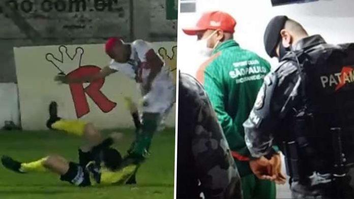 รวบแข้งบราซิลคาสนาม หลังเตะกรรมการจนหมดสติ ฟุตบอลรายการอื่นๆ